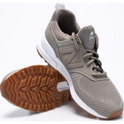 New Balance - Buty MS574EMG. Brązowe buty fitness męskie marki New Balance, z gumy, na sznurówki. W wyprzedaży za 399,90 zł.