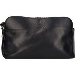 Torebki klasyczne damskie: Skórzana torebka w kolorze granatowym – 24 x 16 x 9 cm