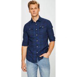 G-Star Raw - Koszula. Szare koszule męskie na spinki marki G-Star RAW, l, z bawełny, z klasycznym kołnierzykiem, z długim rękawem. W wyprzedaży za 399,90 zł.