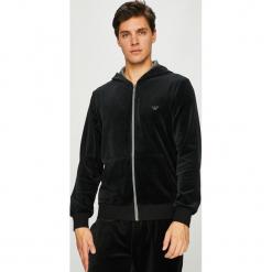 Emporio Armani - Bluza. Czarne bluzy męskie rozpinane Emporio Armani, l, z bawełny, z kapturem. Za 599,90 zł.