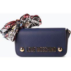 Love Moschino - Damska torebka na ramię, niebieski. Niebieskie torebki klasyczne damskie Love Moschino, ze skóry, z kokardką. Za 659,95 zł.