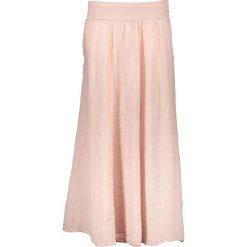 Spódnice wieczorowe: Lniana spódnica w kolorze jasnoróżowym