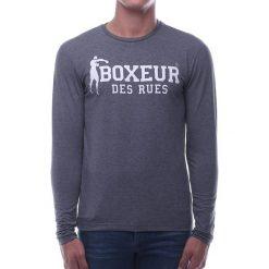 BOXEUR Koszulka długi rękaw melanż r.L (BXE-2809F). Szare koszulki sportowe męskie BOXEUR, l, z długim rękawem. Za 91,87 zł.
