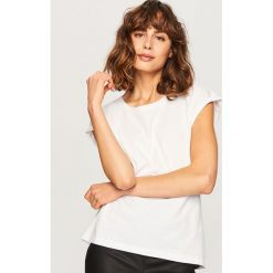 T-shirt z bawełny organicznej - Biały. Białe t-shirty damskie marki Reserved, l, z bawełny. Za 24,99 zł.