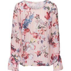 Bluzki damskie: Bluzka w kwiaty bonprix różowo-lila w kwiaty