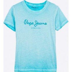 Pepe Jeans - T-shirt dziecięcy Fonso Jr 122-180 cm. Szare t-shirty chłopięce z nadrukiem marki Pepe Jeans, z bawełny, z okrągłym kołnierzem. W wyprzedaży za 99,90 zł.