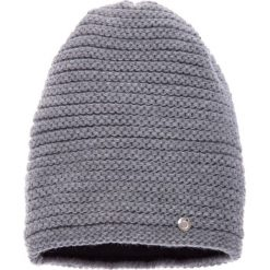 Czapki damskie: Jasnoszara prążkowana czapka QUIOSQUE