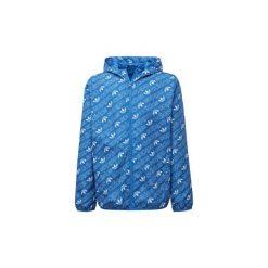 Bluzy Dziecko adidas  Wiatrówka Monogram Trefoil. Niebieskie bluzy dziewczęce rozpinane Adidas. Za 329,00 zł.
