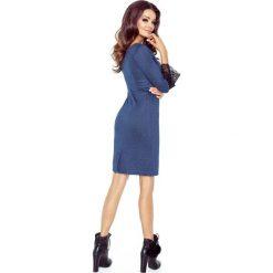 Dolores klasyczna prosta sukienka z mankietami GRANAT. Niebieskie sukienki balowe Bergamo, na co dzień, w koronkowe wzory, z koronki, z klasycznym kołnierzykiem. Za 184,99 zł.