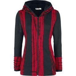 Bluzy damskie: Innocent Samila Hood Bluza z kapturem rozpinana czarny/czerwony