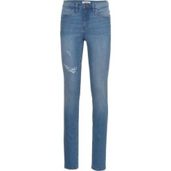 """Dżinsy """"authentik-stretch"""" SKINNY bonprix niebieski. Niebieskie jeansy damskie skinny bonprix, z jeansu. Za 89,99 zł."""