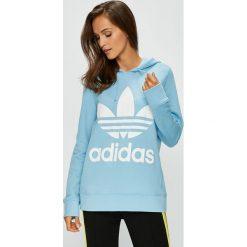 Adidas Originals - Bluza. Szare bluzy rozpinane damskie adidas Originals, m, z nadrukiem, z bawełny, z kapturem. W wyprzedaży za 219,90 zł.