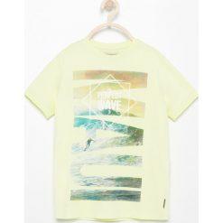 Odzież chłopięca: T-shirt z grafiką – Żółty