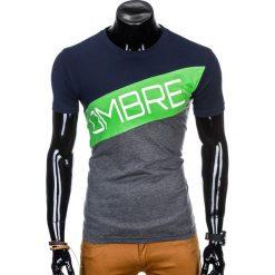T-SHIRT MĘSKI Z NADRUKIEM S650 - GRAFITOWY. Czarne t-shirty męskie z nadrukiem marki Ombre Clothing, m, z bawełny, z kapturem. Za 35,00 zł.