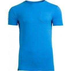 T-shirt męski TSM603 - niebieski - Outhorn. Niebieskie t-shirty męskie Outhorn, na lato, m, z bawełny. W wyprzedaży za 24,99 zł.