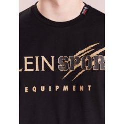 Plein Sport GOLDEN Tshirt z nadrukiem black/gold. Czarne koszulki polo Plein Sport, m, z nadrukiem, z bawełny. W wyprzedaży za 377,40 zł.