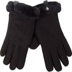 Rękawiczki Damskie UGG - W Shorty Glove W/Leather Trim 17367 Black. Czarne rękawiczki damskie Ugg, ze skóry. Za 559,00 zł.