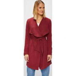 Only - Płaszcz. Brązowe płaszcze damskie pastelowe ONLY, l, w paski, z elastanu. W wyprzedaży za 179,90 zł.