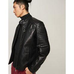 Kurtki męskie bomber: Kurtka typu biker jacket – Czarny