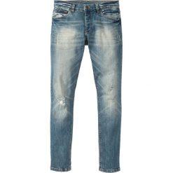"""Dżinsy ze stretchem Skinny Fit Straight bonprix niebieski """"used"""". Niebieskie rurki męskie marki bonprix, z jeansu. Za 109,99 zł."""