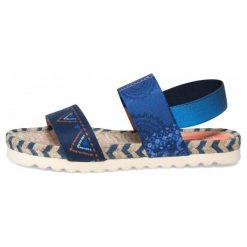 Desigual Sandały Damskie Formentera Denim B 38 Niebieski. Szare sandały damskie marki Desigual, l, z tkaniny, casualowe, z długim rękawem. W wyprzedaży za 189,00 zł.