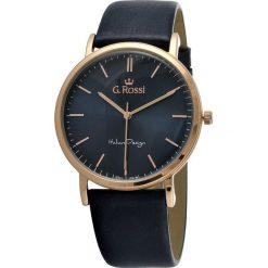 Zegarki męskie: Zegarek Gino Rossi męski Dorian czarny (10768A-6F3)