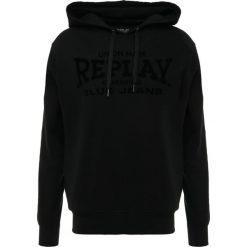 Replay Bluza z kapturem black. Czarne bejsbolówki męskie Replay, m, z bawełny, z kapturem. Za 409,00 zł.