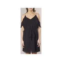 Sukienki krótkie MICHAEL Michael Kors  OFF SHLDR RHNSTN DRS. Sukienki małe czarne marki MICHAEL Michael Kors, l, z krótkim rękawem. Za 687,20 zł.