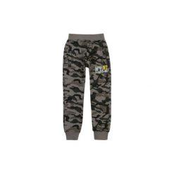Dresy chłopięce: spodnie chłopięce ze ściągaczami cienkie, dresowe, moro