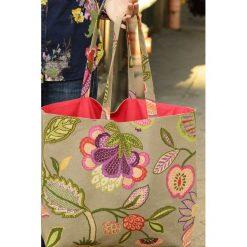Torba na zakupy Flower II. Różowe torby plażowe Pakamera, z bawełny, duże. Za 79,00 zł.