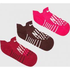 Nike - Skarpetki (3-pack). Szare skarpetki damskie Nike, z bawełny. W wyprzedaży za 49,90 zł.
