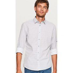 Koszula w drobny wzór - Biały. Białe koszule męskie marki Reserved, l. Za 89,99 zł.