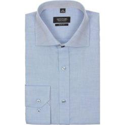Koszula spello 1989 długi rękaw slim fit niebieski. Białe koszule męskie na spinki marki bonprix, z klasycznym kołnierzykiem. Za 29,99 zł.