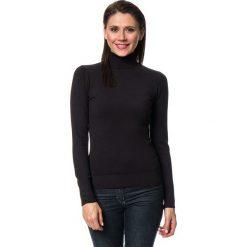 Golfy damskie: Sweter w kolorze czarnym