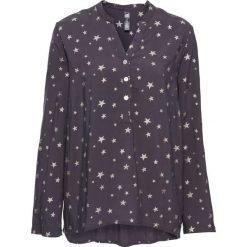 Bluzka w połyskujące gwiazdy bonprix ciemnoszaro-srebrny z nadrukiem. Szare bluzki asymetryczne bonprix, z nadrukiem. Za 74,99 zł.