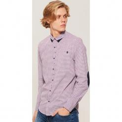 Koszula w drobną kratkę - Wielobarwn. Szare koszule męskie w kratę marki House, l, z bawełny. Za 89,99 zł.