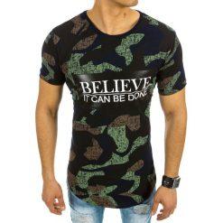 T-shirty męskie z nadrukiem: T-shirt męski z nadrukiem granatowy (rx2060)