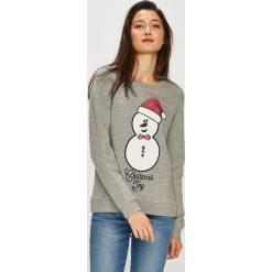 Vero Moda - Bluza Cute. Szare bluzy damskie marki Vero Moda, l, z nadrukiem, z bawełny, bez kaptura. Za 119,90 zł.