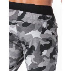 Spodnie dresowe męskie: SPODNIE MĘSKIE DRESOWE P694 – GRAFITOWE/MORO