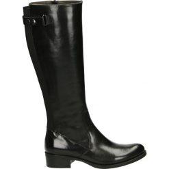 Kozaki - 4152 ICE NERO. Czarne buty zimowe damskie Venezia, ze skóry. Za 599,00 zł.