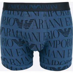 Emporio Armani - Bokserki. Szare bokserki męskie marki Emporio Armani, l, z nadrukiem, z bawełny, z okrągłym kołnierzem. W wyprzedaży za 99,90 zł.