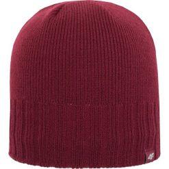 Czapka męska CAM259Z - bordowy - 4F. Czerwone czapki zimowe męskie 4f, na jesień, z materiału. Za 19,99 zł.