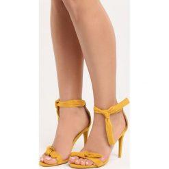 Żółte Sandały Staple. Żółte sandały damskie vices, na wysokim obcasie. Za 69,99 zł.