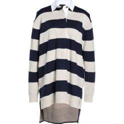 J.CREW Bluza indigo/vory/mushroom. Niebieskie bluzy damskie marki J.CREW, m, z materiału. W wyprzedaży za 411,60 zł.