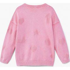 Mango Kids - Sweter dziecięcy Vale 104-164 cm. Szare swetry dziewczęce marki Mango Kids, z bawełny, z okrągłym kołnierzem. W wyprzedaży za 49,90 zł.