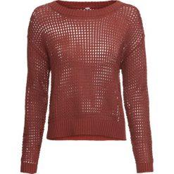 Sweter bonprix rdzawopomarańczowy. Brązowe swetry klasyczne damskie marki bonprix. Za 89,99 zł.
