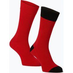 Finshley & Harding - Skarpety męskie pakowane po 2 szt., czerwony. Czerwone skarpetki męskie marki Finshley & Harding, z bawełny. Za 29,95 zł.