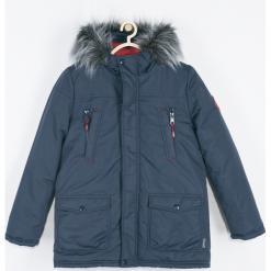 Kurtka. Niebieskie kurtki chłopięce przeciwdeszczowe marki Winter Time, z bawełny. Za 239,90 zł.