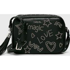 Desigual - Torebka. Czarne torebki klasyczne damskie Desigual, z materiału, małe. Za 249,90 zł.