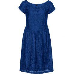 Sukienki: Sukienka koronkowa z odsłoniętymi ramionami: must have bonprix kobaltowy